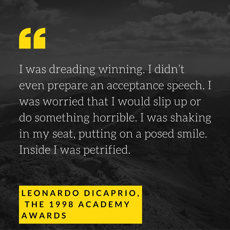 Leonardo DiCaprio's words on public speaking